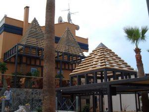 Zona de recepción en hotel de Acantilados de los Gigantes Tenerife